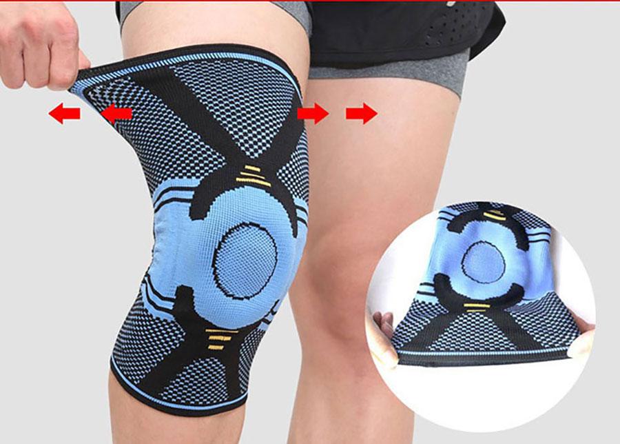 Toàn bộ thân đai bảo vệ làm bằng vải co giãn Spandex hoạt động thể thao không bị gò bó, cứng, chặt