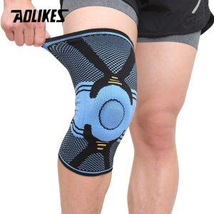 Đai bảo vệ đầu gối lót silicon cao cấp Aolikes AL7725 (1 chiếc)