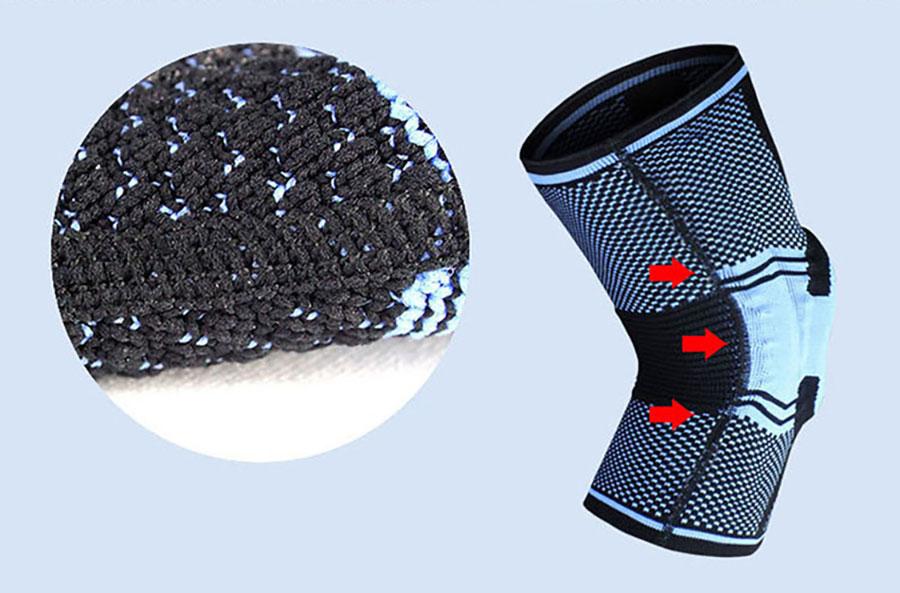 Chất liệu đai bảo vệ đầu gối mềm mại, thoáng khí