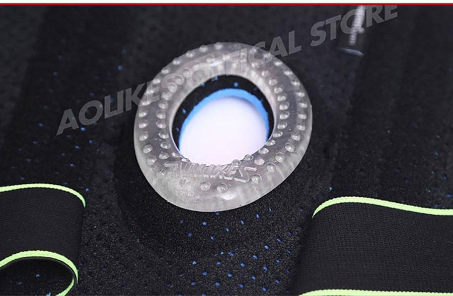 Đai bảo vệ khớp gối Aolikes có vải Coolfit thoáng khí, thấm hút nhanh mồ hôi, không nhăn nhúm, bền màu, dễ dàng vệ sinh