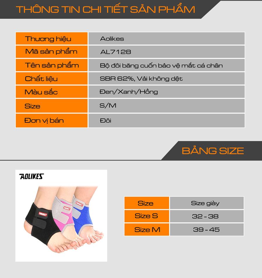 Thông tin chi tiết về sản phẩm đai bảo vệ mắt cá chân
