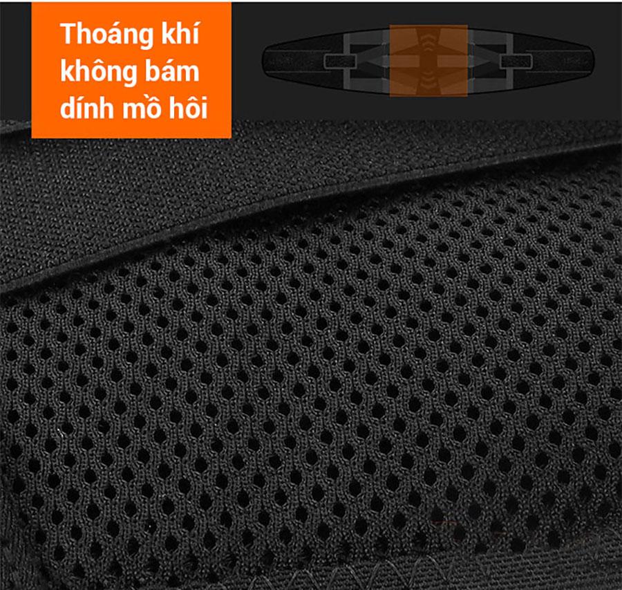 Sử dụng nylon thoáng khí không bám dính mồ hôi, thoát hơi nhanh, thoải mái khi sử dụng
