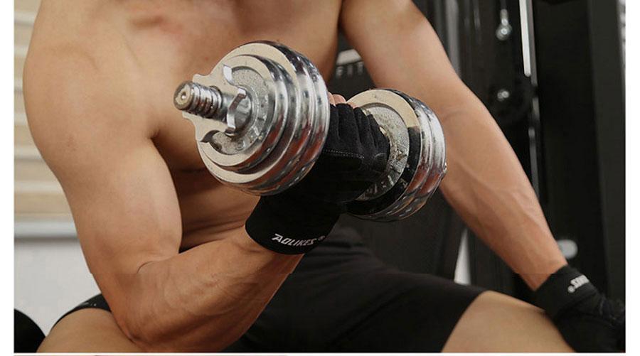 Găng tay tập gym ứng dụng nhiều trong các môn thể thao: cự tạ, tập gym, ...