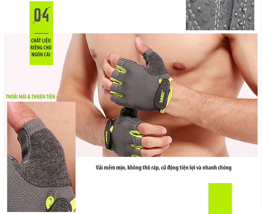 Chất liệu riêng cho ngón cái thoải mái và dễ dàng tháo nhanh