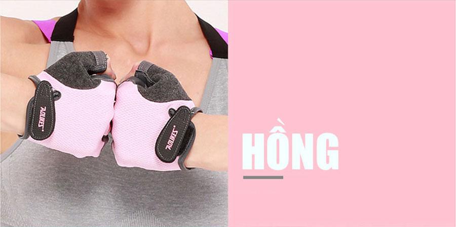 Găng tay thể thao Aolikes AL112 phiên bản hồng dành cho phái nữ