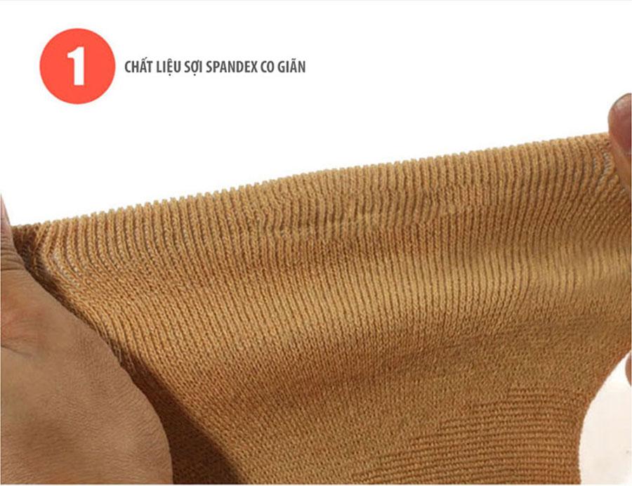 Tất chân được làm từ chất liệu sợi Spandex cơ giãn 4 chiều