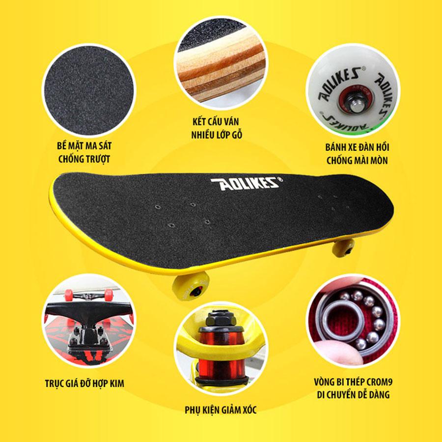Ván trượt Skateboard cao cấp Aolikes AL6001