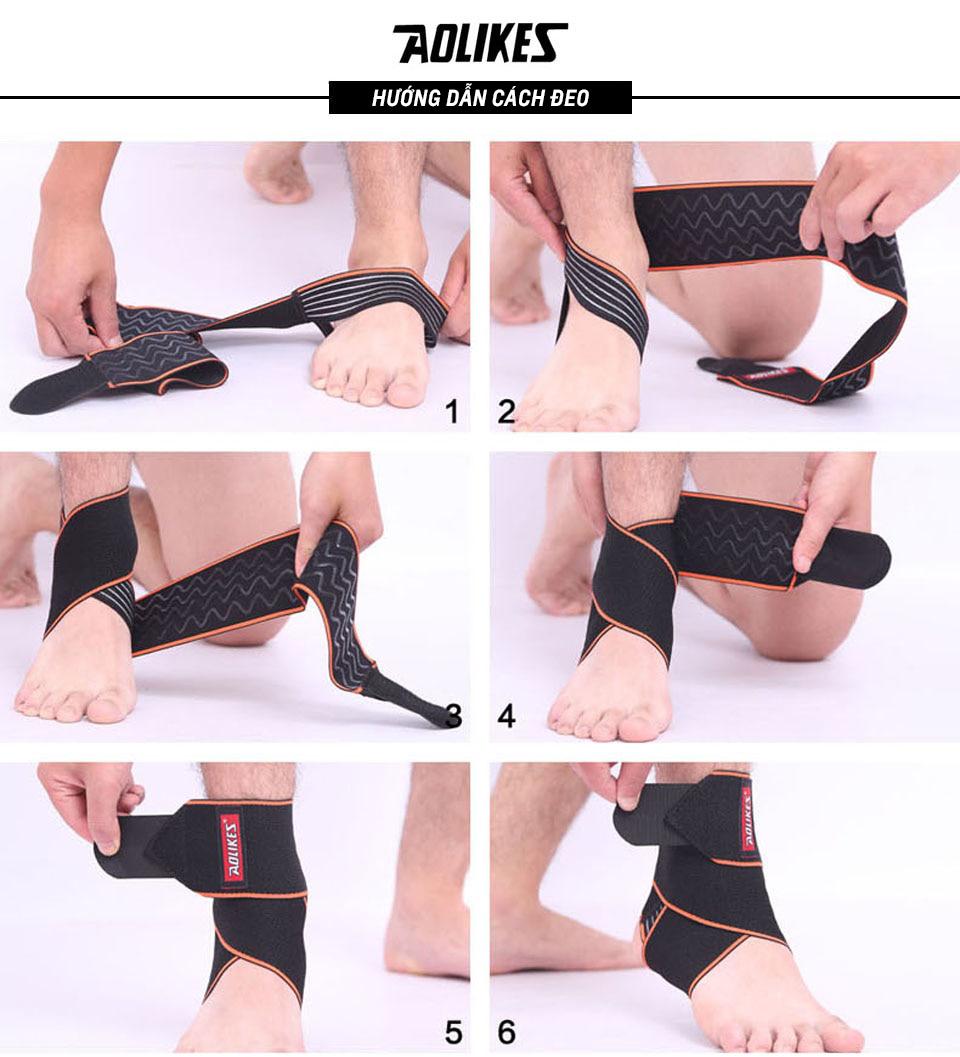 Hướng dẫn đeo đai bảo vệ cổ chân đúng cách