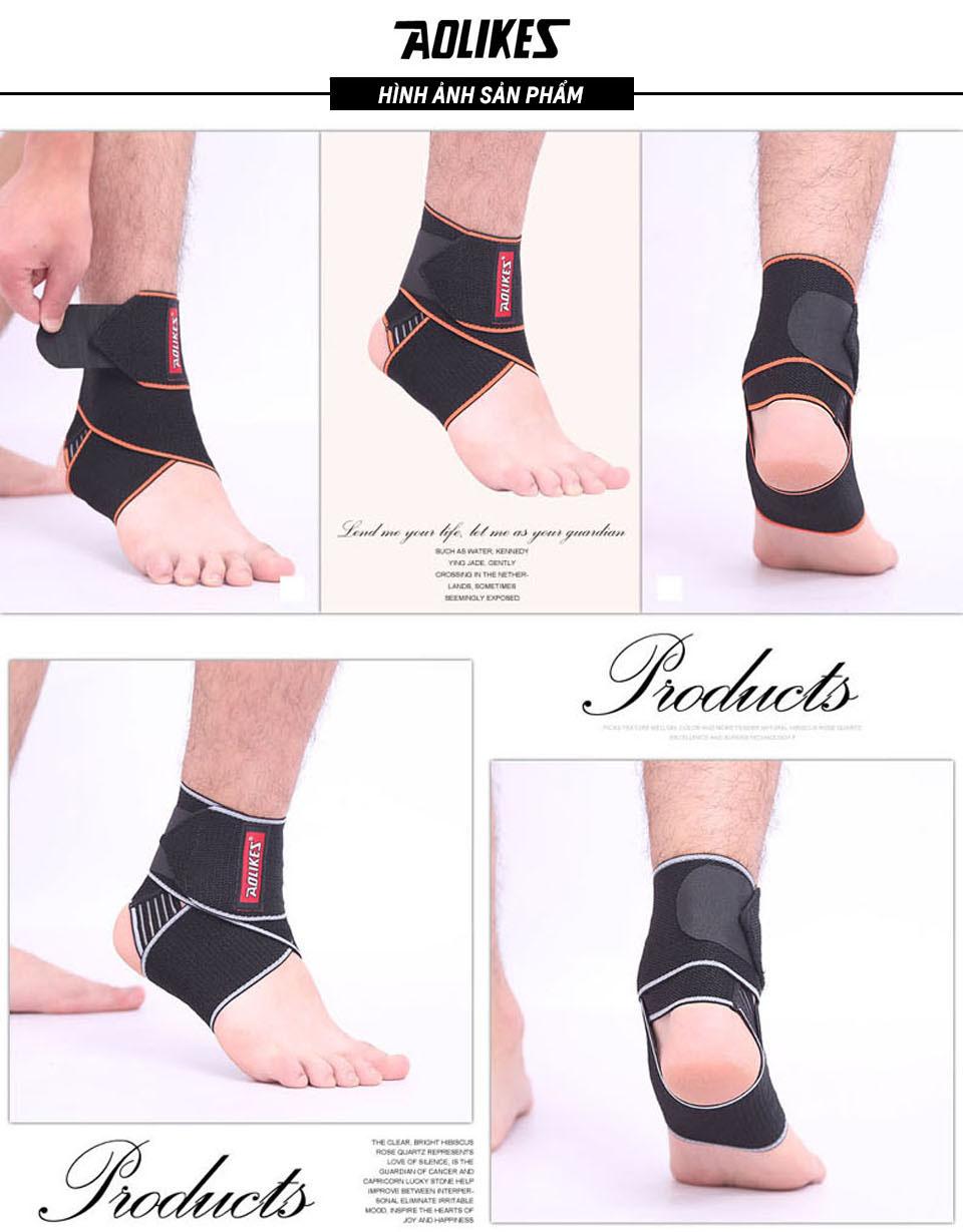 Hình ảnh thực tế đai bảo vệ cổ chân trong thể thao
