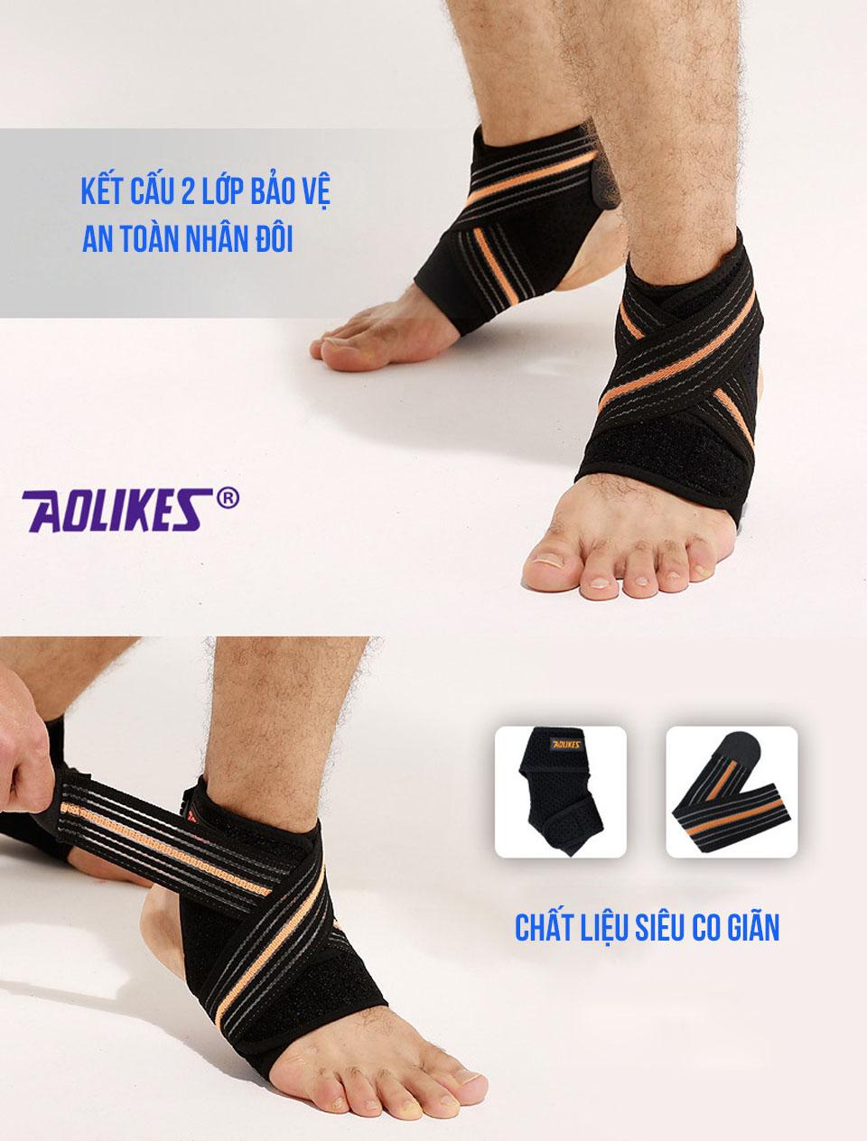 Kết cấu 2 lớp của cuốn bảo vệ mắt cá chân