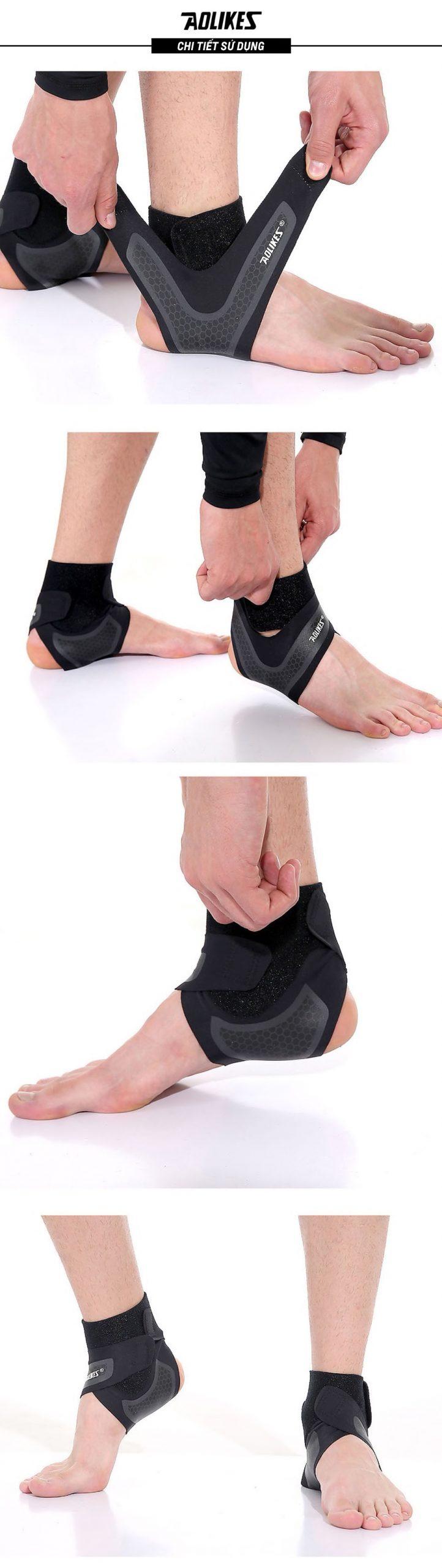 Các bước để đeo băng cuốn bảo vệ mắt cá chân Aolikes