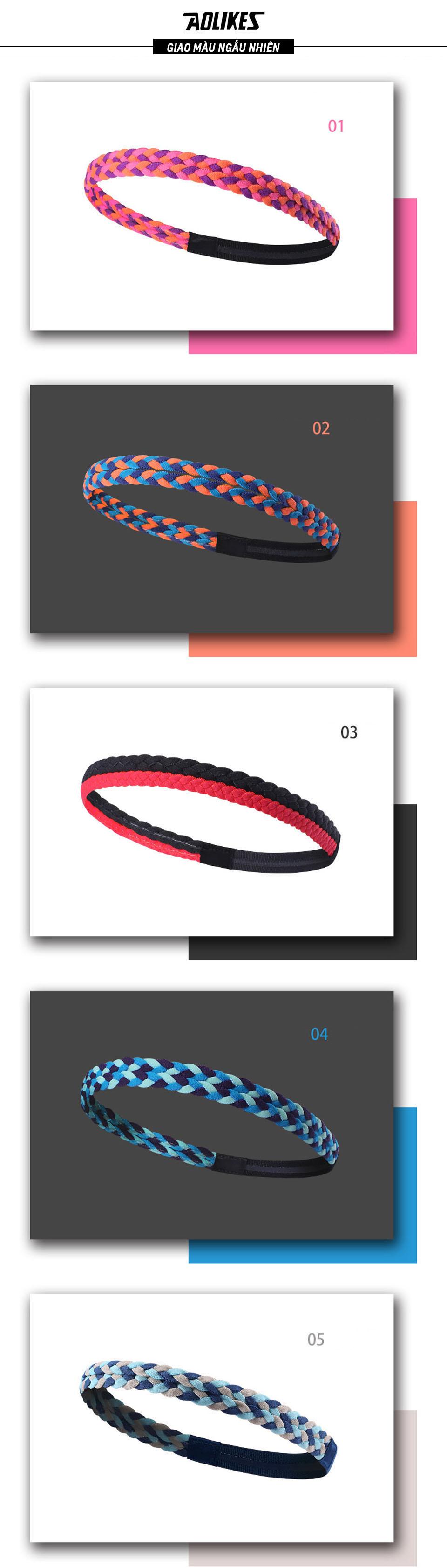 Sản phẩm băng trán thể thao Aolikes AL2102 đầu thể thao có đa dạng màu sắc cho bạn lựa chọn