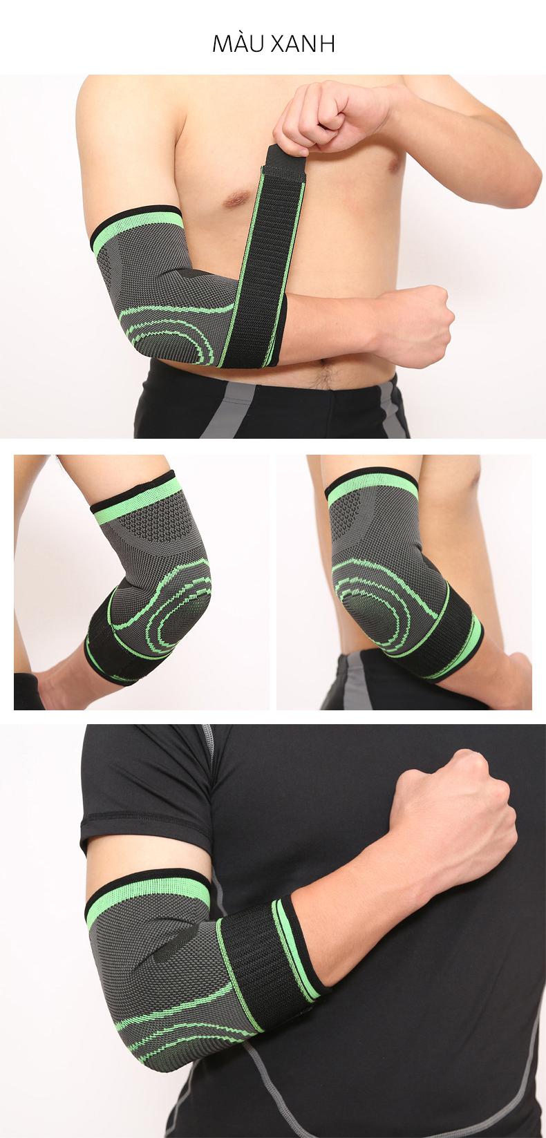Bảo vệ khuỷu tay có dây cuốn trợ lực