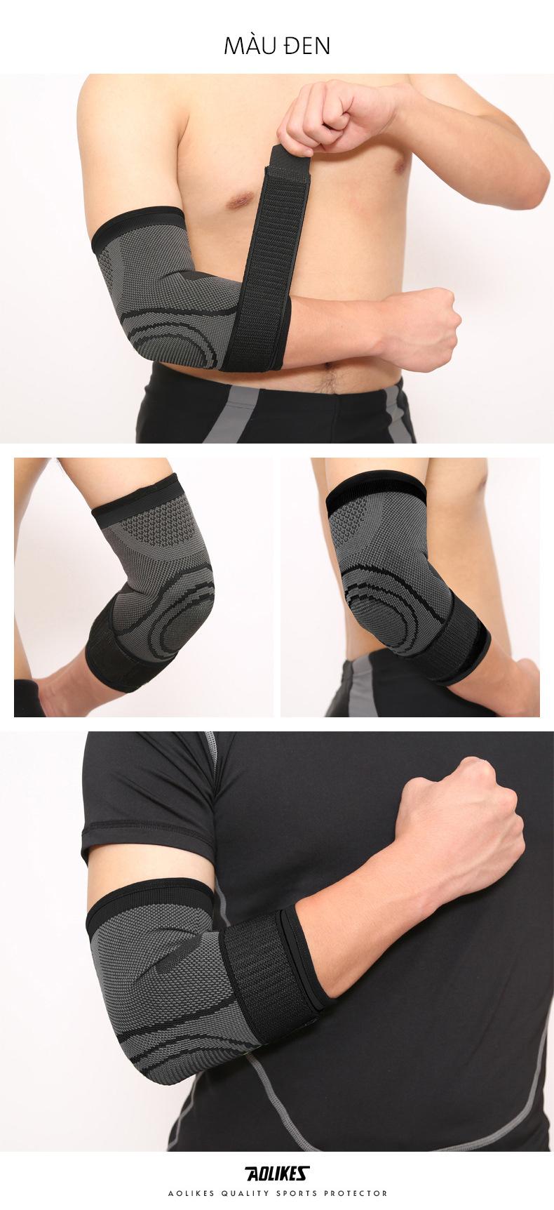 Đai bảo vệ khuỷu tay Aolikes AL7548 màu đen