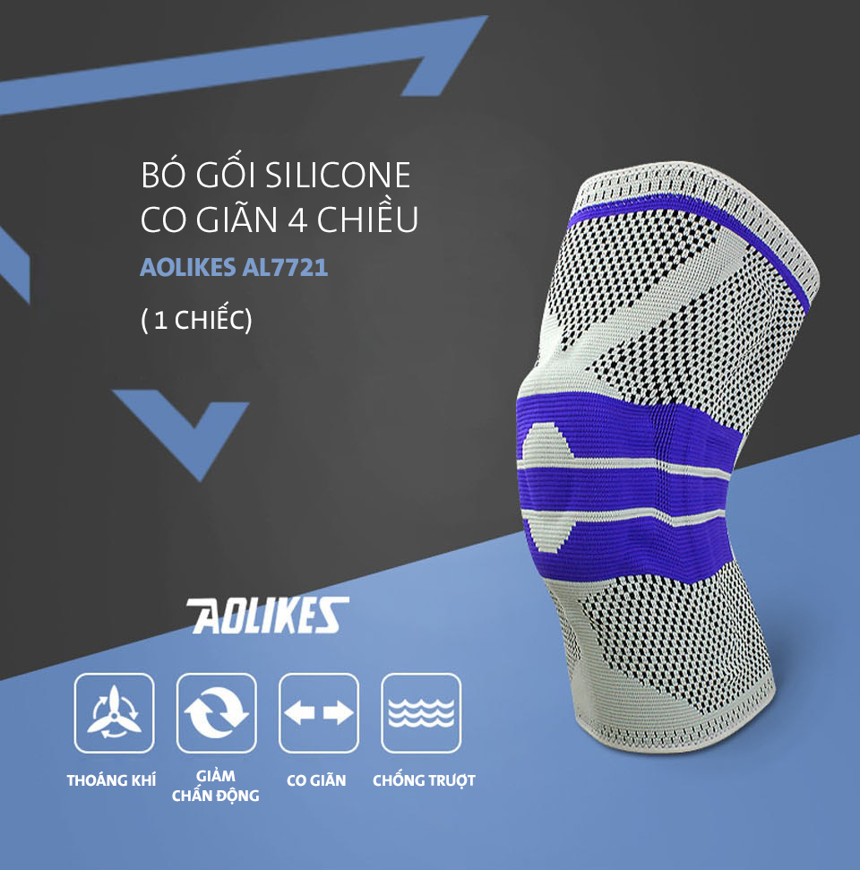 Bao đầu gối thể thao được làm từ vải Spandex co giãn 4 chiều