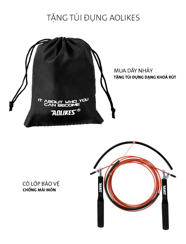 Túi dây rút rất thuận tiện để bạn có thể mang theo tập luyện ở mọi nơi