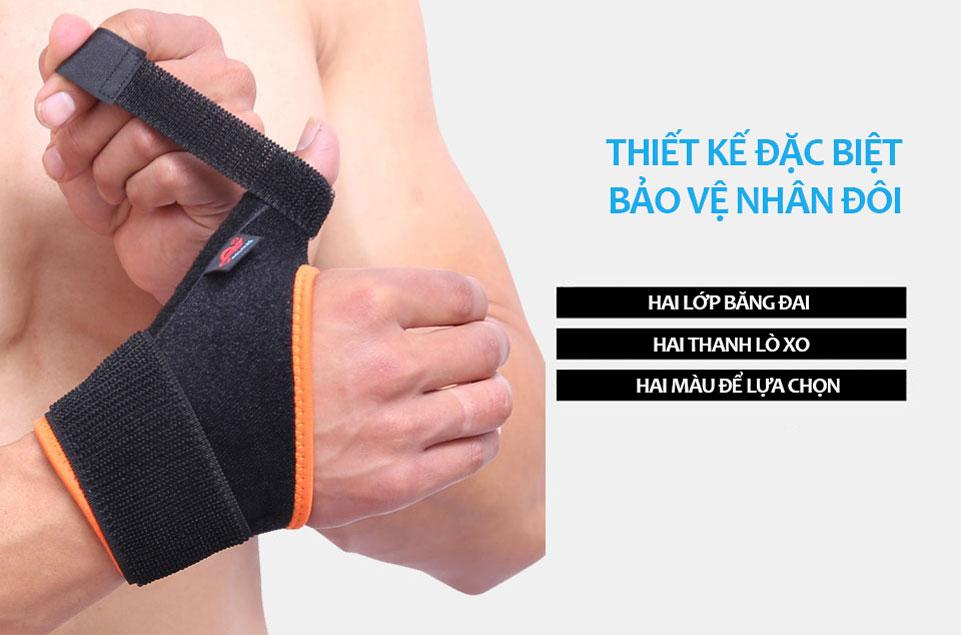 Băng cuốn cổ tay thiết kế mới tăng 2 lần khả năng bảo vệ