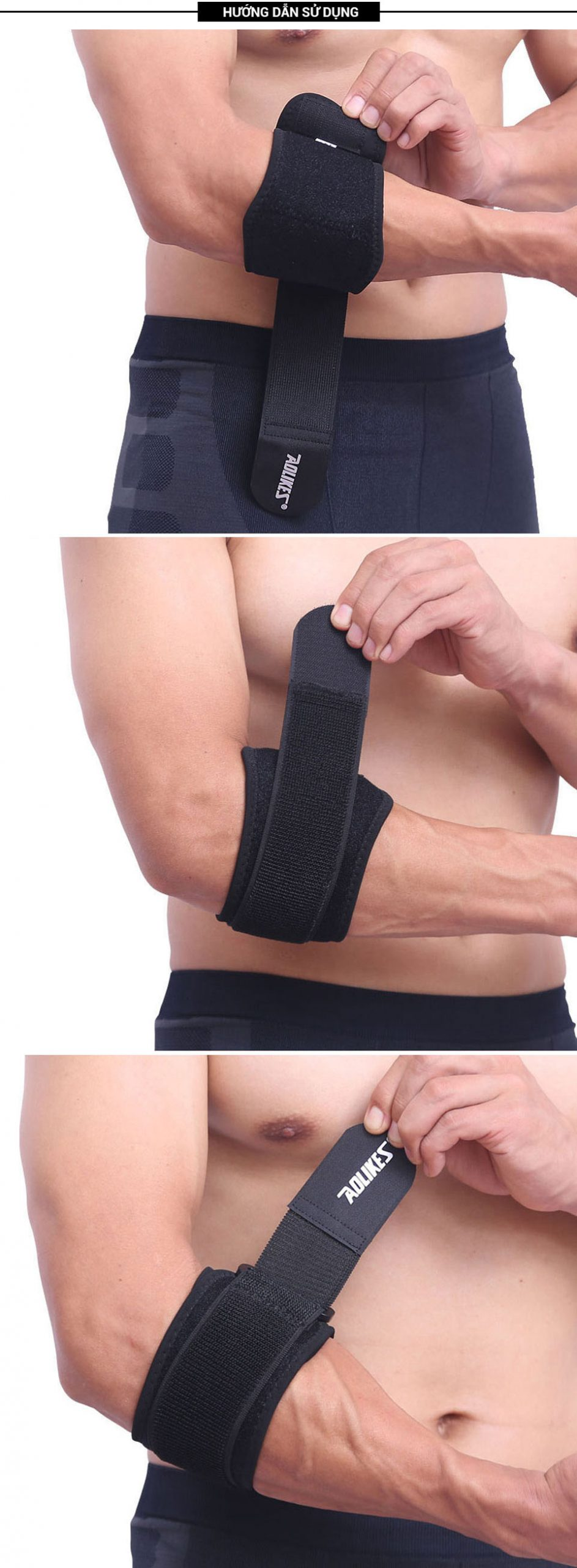 Hướng dẫn sử dụng đai bảo vệ khuỷu tay Aolikes AL7947