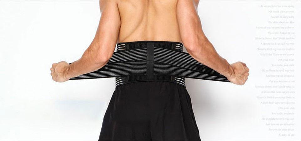 Hình chụp phía sau sản phẩm đai bảo vệ lưng AL7990