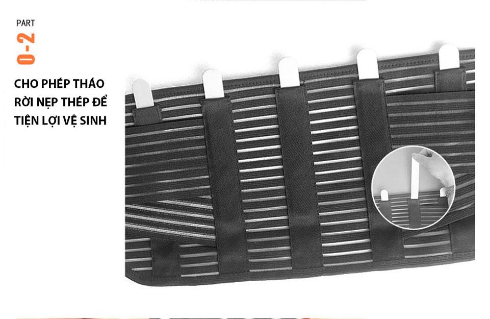 Phần nẹp có thể tháo rời để dễ dàng vệ sinh