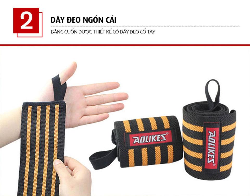 Thiết kế dây đeo giúp trợ lực cổ tay