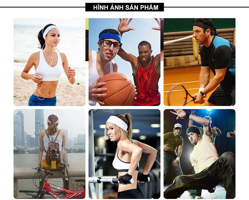 Băng trán được sử dụng trong hầu hết các môn thể dục, thể thao