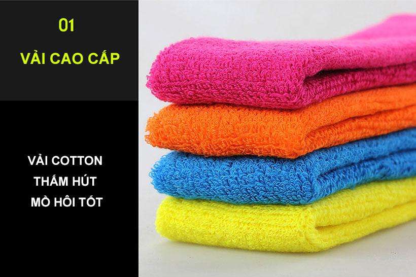 Băng trán thể thao được làm từ chất liệu vải cotton cao cấp