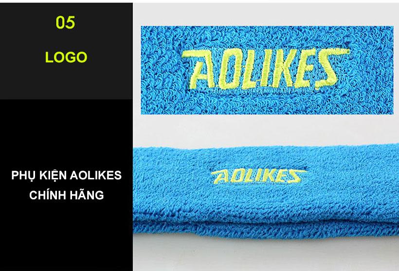 Logo Aolikes được thêu nổi bật trên băng trán