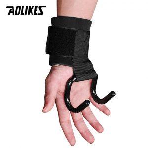 Cuốn trợ lực cổ tay có móc kéo tạ Aolikes AL7642