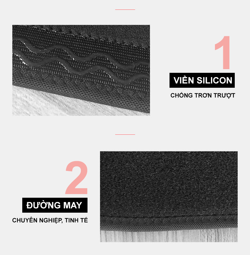 Thiết kế thông minh với viền silicon chống trượt