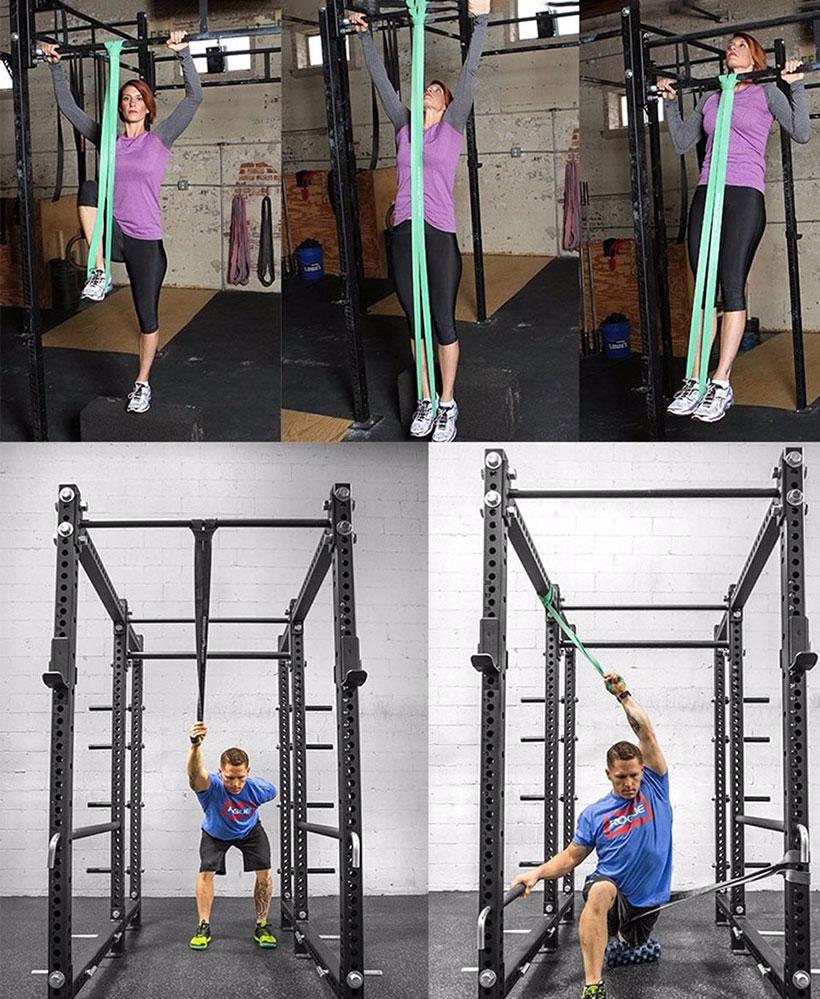 Một số bài tập với dây đàn hồi tập thể dục