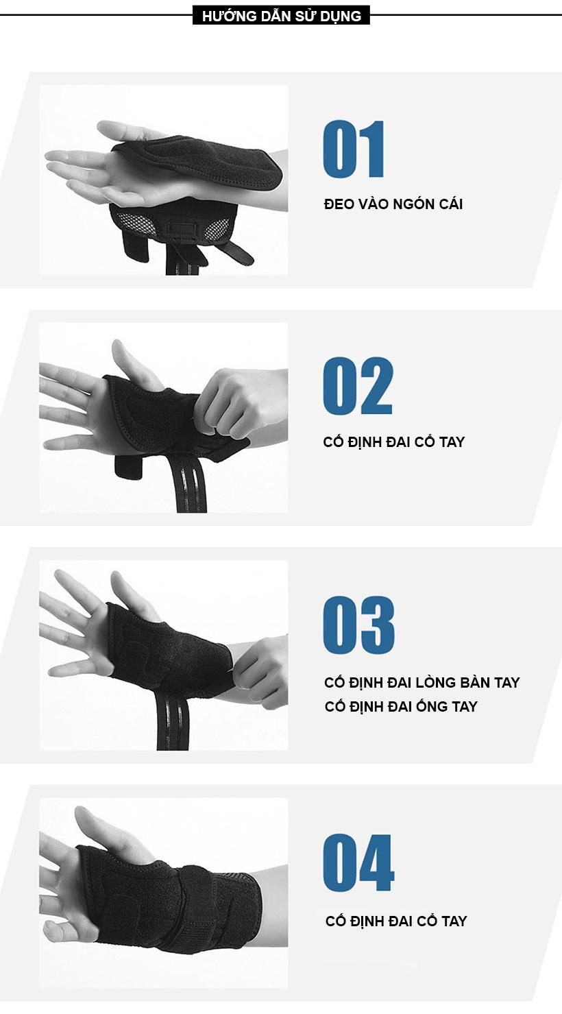Hướng dẫn sử dụng nẹp bảo vệ khớp cổ tay Aolikes AL1672
