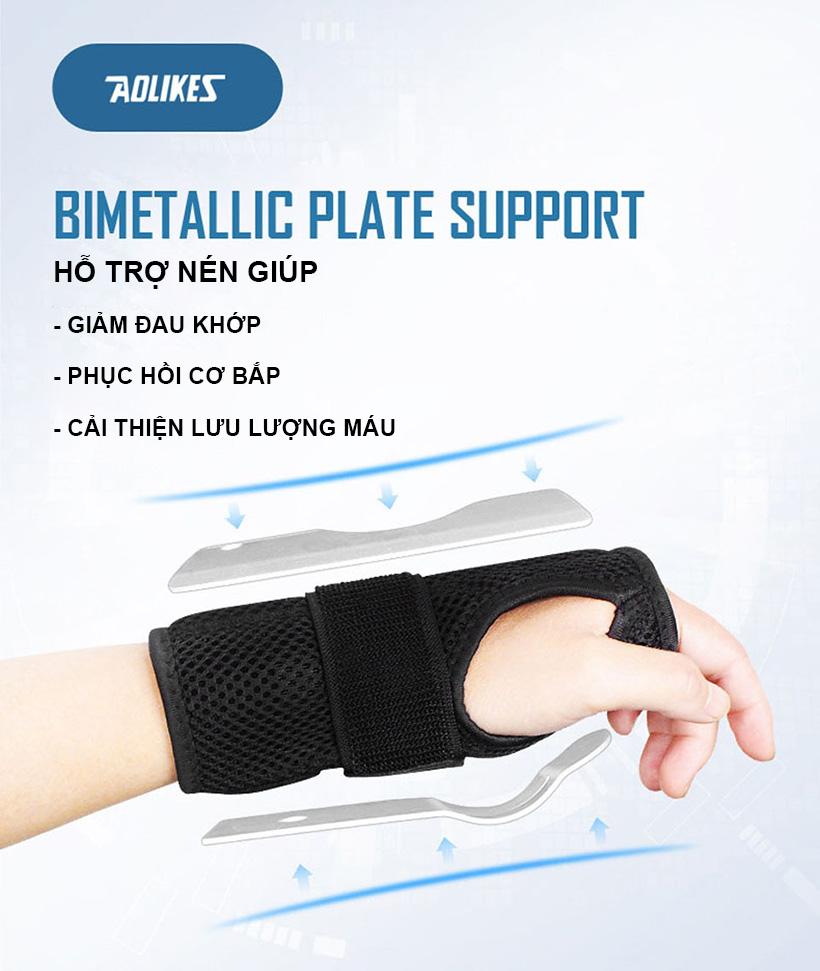 những công dụng bổ trợ của nẹp bảo vệ cổ tay Aolikes AL1672