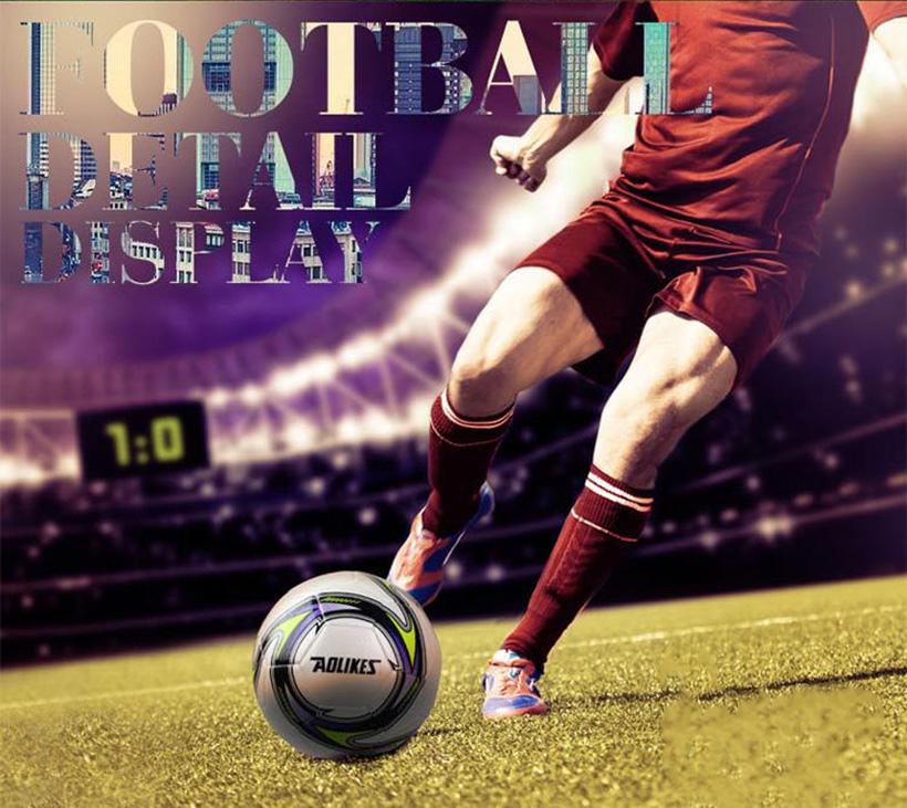 Quả bóng đá số 5 Aolikes AL607 phù hợp với nhiều bề mặt sân