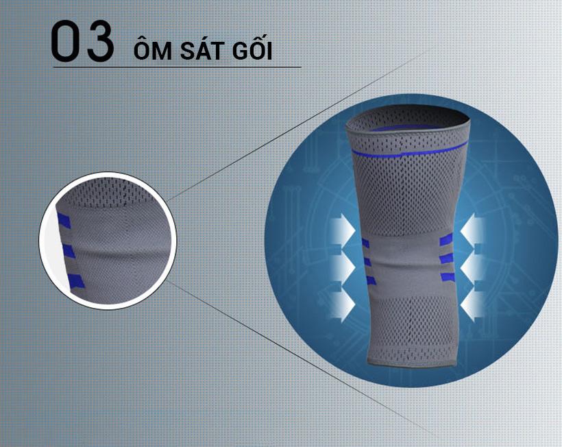 Đai bảo vệ gối chính hãng Aolikes được sản xuất dựa trên kết cấu của đầu gối