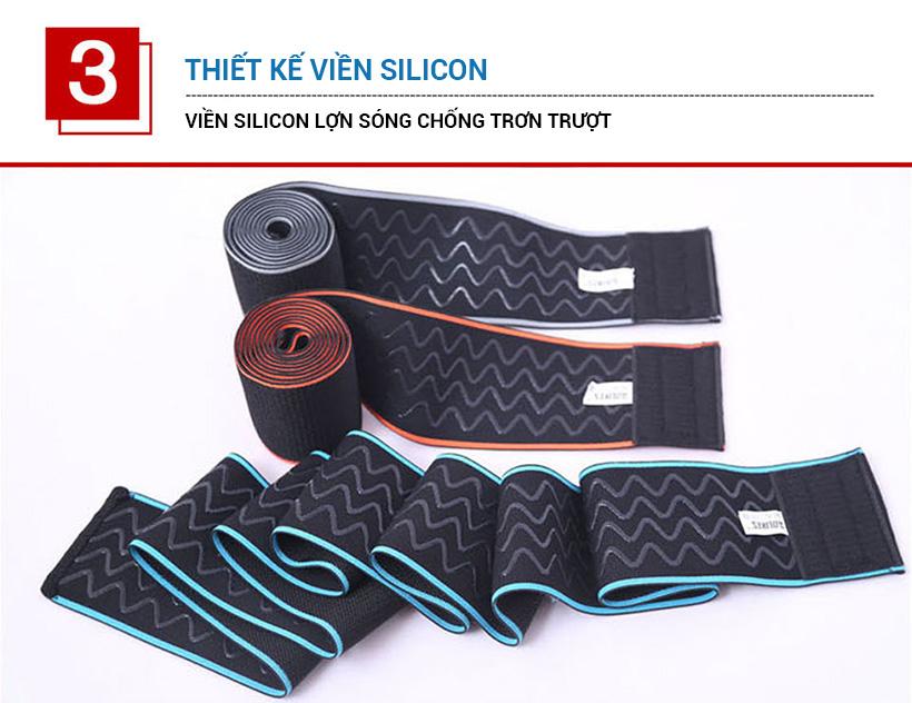 Đai bảo vệ gối có 4 viền silicone lượng sóng chống trơn trượt