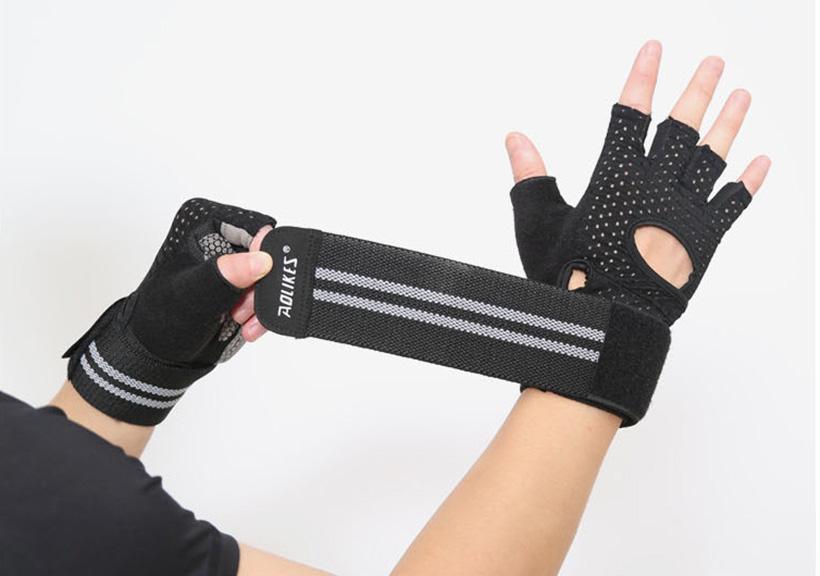 Găng tay nửa ngón Aolikes AL113B màu đen