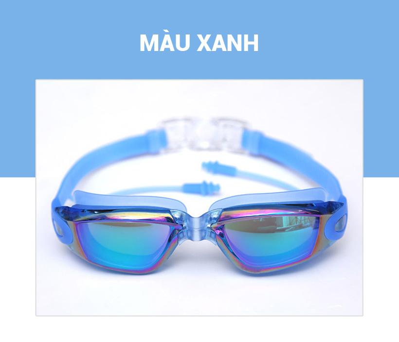 Kính bơi Aolikes AL5005 màu xanh