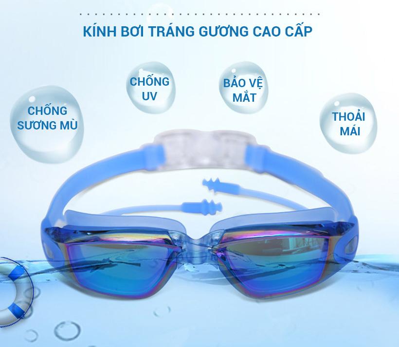 Kính bơi người lớn 4 mùa chính hãng Aolikes AL5005