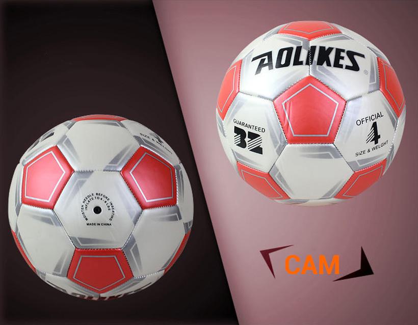 Quả bóng đá số 4 Aolikes AL606 màu cam