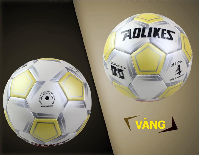 Quả bóng đá số 4 Aolikes AL606 màu vàng