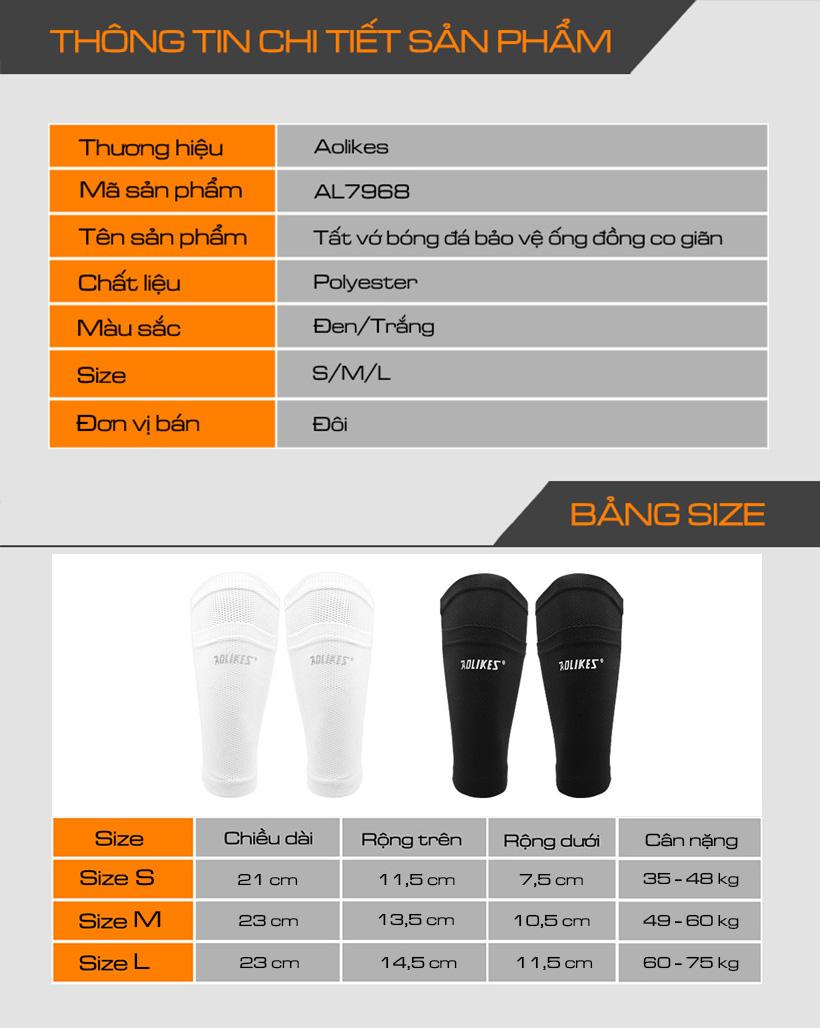Thông tin chi tiết sản phẩm tất bảo bảo vệ ống đồng Aolikes AL7968