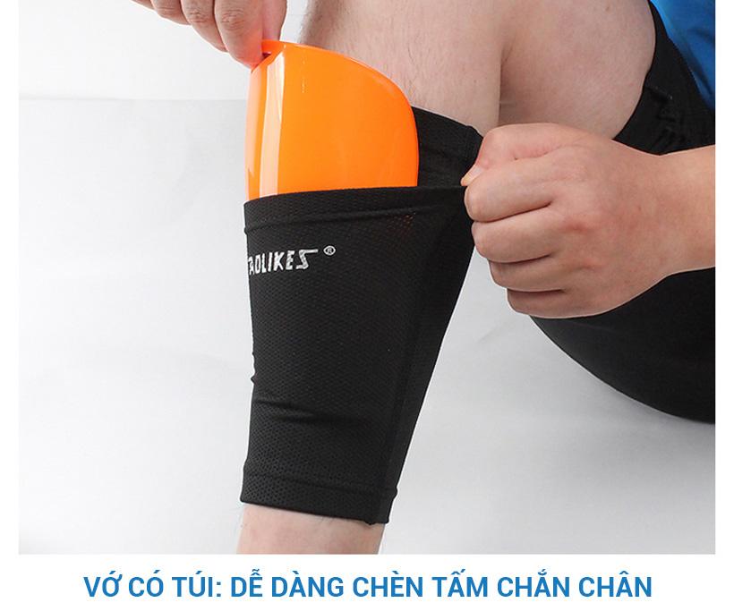 Có túi dễ dàng chèn thêm miếng chắn chân