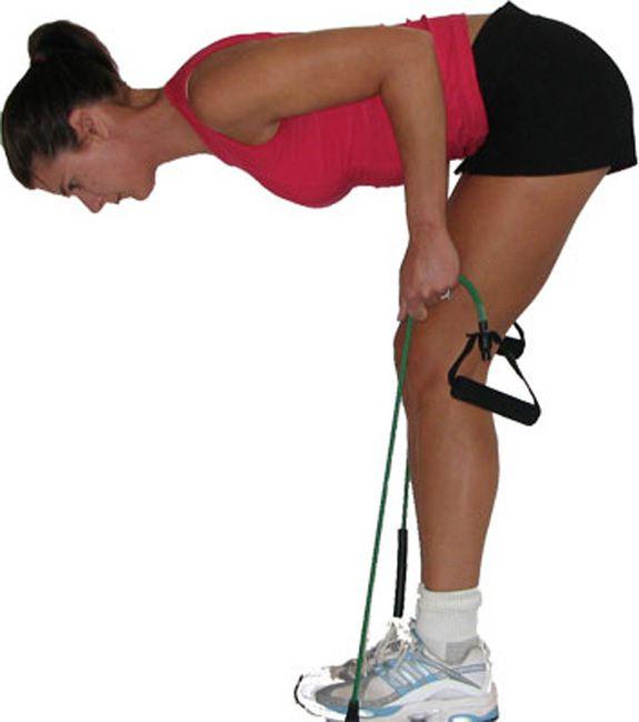 Bài tập cùng dây Miniband tác động lớn vào mông, đùi